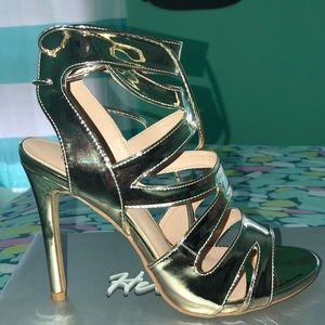 Metallic Gold High heel sandals